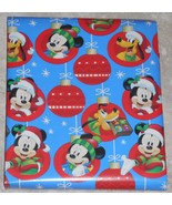 Disney Mickey Mouse Pluto Kids Christmas Wrapping Paper 20 sq ft Roll - $5.50