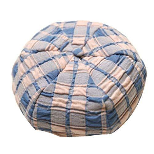 Blue Round Knit Hat Unisex Baby Sun Hat Infant Cotton Cap Toddler Beret Cap Gift