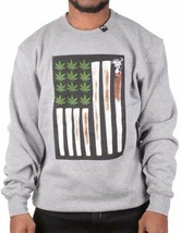 L-R-G LRG Heather Grey Joint Chiefs of Staff Crewneck Sweatshirt Weed Marijuana