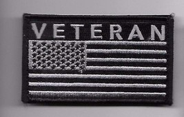 Veteran Black Flag 2 X 3 Embroidered Patch With Hook Loop - $15.33