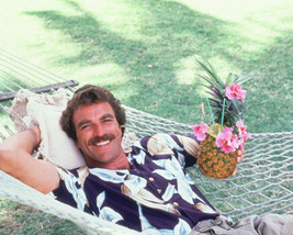 Magnum P.I. Color Photo 16x20 Canvas Giclee Tom Selleck In Hammock With Cocktail - $69.99