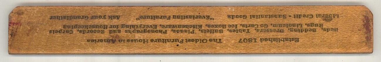 Cowperthwait & Sons vintage advertising ruler  NY  Furniture image 3