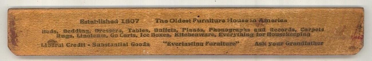 Cowperthwait & Sons vintage advertising ruler  NY  Furniture image 2