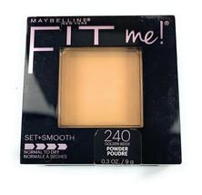 Maybelline Fit Me! Pressed Powder 240 Golden Beige Set + Smooth Normal t... - $9.29