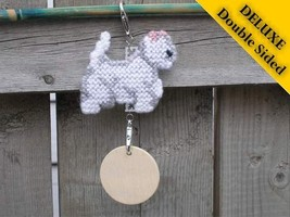 West Highland White Terrier Deluxe crate tag 2 sided, or home decor, dog westie - $20.00