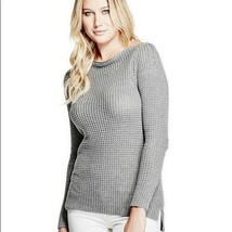 NWT Guess Audrey cable knit gray zipper sweater - $40.59
