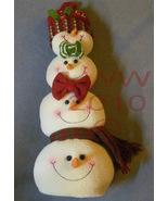 Kohl's Snowman Noel Plush Christmas Holiday Decoration  - $11.99
