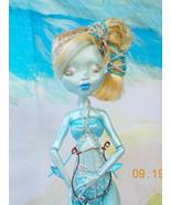 Monster High Repaint, Siren of the Sea, Sea Theme Art Doll, OOAK,  Stand - $75.00
