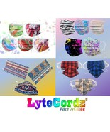 Disposable Surgical 3 Ply Surgical Face Mask Plaid Buffalo Paisley Paint... - $7.91+