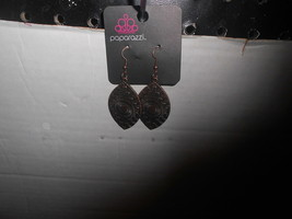 Paparazzi Earrings (New) Copper Design Dangles - $6.37