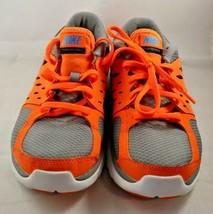 NIKE Flex 2013 Run Size 7Y Womens 8.5 Youth Orange Gray Black Running Shoes - $33.99