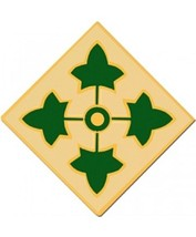 US Army 4th Infantry Division Combat Service Badge (1 7 16 inch) - $13.36