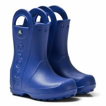 NWT Crocs Kids Toddler C 6 Handle It Wellington Rain Boots, Cerulean Blue - $27.00