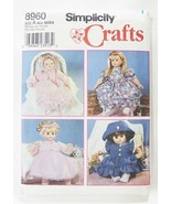 """Simplicity american made sewing pattern for 12-22"""" girl doll clothes 896... - $4.95"""