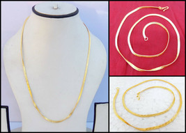 South Indian Jewelry Ethnic 22k Gold Plated Necklace Chain 22k Light Mal... - $7.59