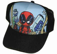 Marvel Super Cute Deadpool Adult SnapBack Trucker Hat Cap - $21.77