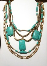NEW Silpada Turquoise & Brass Toes in the sand Necklace KRN0044 Retail $... - $33.65