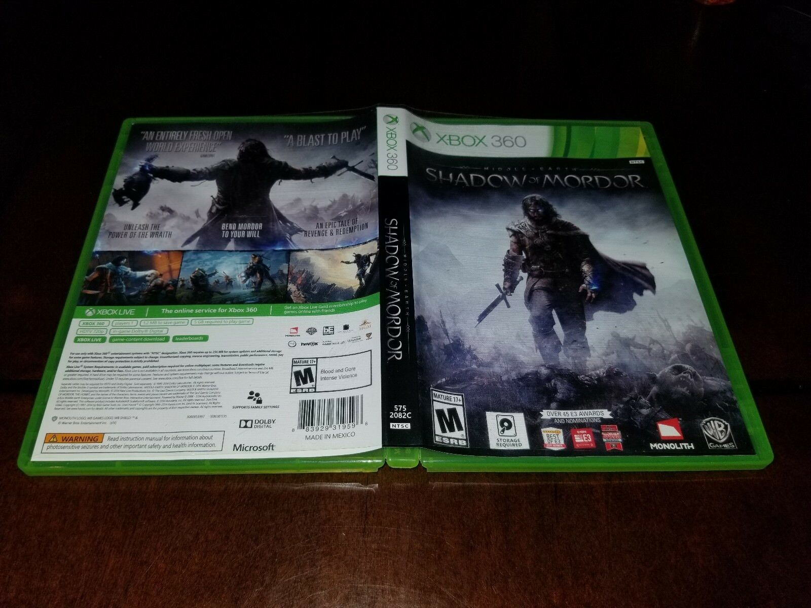 Middle Earth Shadow of Mordor Xbox 360 EXMT **Inv01575** image 2