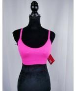 FILA Fila Womens Seamless Camisole Bra Sport Bra Pink Stretch Sz L - $28.38