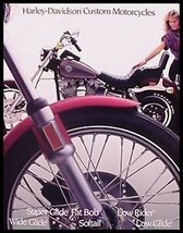 1985 Harley-Davidson Brochure Custom Super Wide Glide Low Rider Softail 16 pgs - $13.44