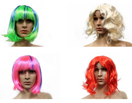 Costume Halloween Wigs, Synthetic Hair Cosplay Short and Long Hair Acces... - $6.95