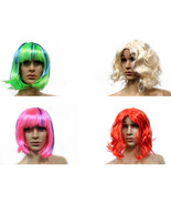 Costume Halloween Wigs, Synthetic Hair Cosplay Short and Long Hair Acces... - €6,11 EUR
