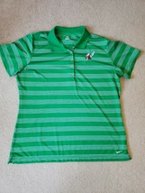 Womens Nike Golf Dri-Fit Polo Short Sleeves Green With White Strips 7-up Size XL - $18.70