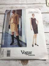 Vintage Vogue Calvin Klein Pattern 1824 Misses Top & Skirt Size 12 14 16... - $14.80