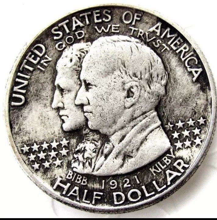 Primary image for 1921 State of Alabama Centennial Half Dollar Casted Coin Bibb & Kilby