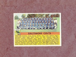 1956 Topps # 48 Baltimore Colts Team Card Nice Card - $7.99