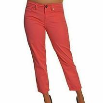Calvin Klein Jeans Skinny Crop Stretch Capri Pant Flamingo Pink  Sz 6  ret $69 - $21.57