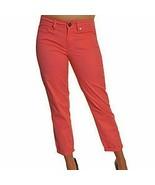 Calvin Klein Jeans Skinny Crop Stretch Capri Pant Flamingo Pink  Sz 6  r... - $21.57