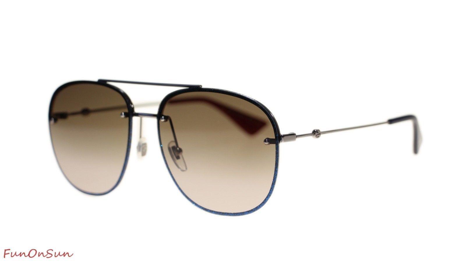 61e7c37d09 10. 10. Previous. Gucci Women Sunglasses GG0228S 001 Gold Green Gradient Lens  63mm Authentic. Gucci Women Sunglasses GG0228S ...