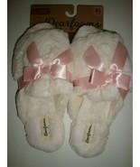 Dearfoams Women's Memory Foams House Slide Slippers Ivory Faux Fur X-Lar... - $25.73