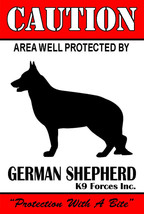 Protected By German Shepherd K9 Forces Inc. 8x12 Inch Aluminum Sign - $14.80