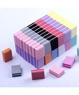 10/25/50pcs lot Double-sided Mini Nail File Blocks Colorful Sponge Nail ... - $3.00+