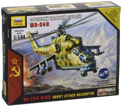 Zvezda Models Mil-24 Russian Attack Helicopter (1/144 Scale) - $37.94