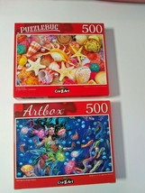 Pearly Shells and Brunette Mermaid Sea Beach Jigsaw Puzzles 500 pcs New ... - $15.84