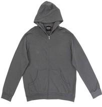 NWT $148 Mens MONROW Zip Up Hoody - Sweatshirt Hoodie Vintage Black Gray... - $68.61