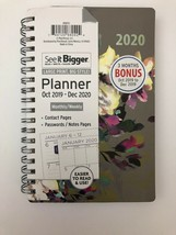 See it Bigger Oct 2019 to Dec 2020 Monthly Weekly Planner Agenda Grey Fl... - $17.81