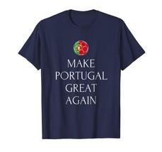 Sport Shirts - World Make Portugal Great Again Soccer Football Team Cup Tee Men - $19.95+