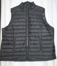 NEW WOMENS PLUS SIZE 3X BLACK QUILTED VEST WITH TWO FRONT POCKETS  - $19.34