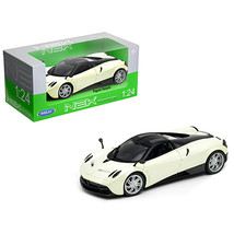 Pagani Huayra Pearl White with Black Top 1/24-1/27 Diecast Model Car by ... - $34.59
