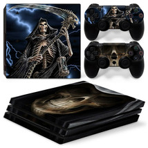 Sony PS4 PRO Grim Reaper Console & 2 Controllers Decal Vinyl Skin Art Wrap - $13.83