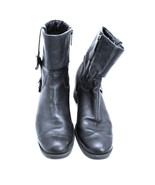 HARLEY DAVIDSON Sadie Black Leather Boots Women Size 7.5 M D84068 Pre-Owned - $68.67