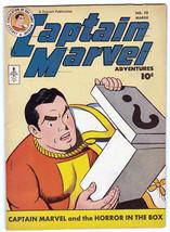 CAPTAIN MARVEL ADVENTURES #70-FAWCETT-HORROR IN THE BOX HIGH GRADE - $212.19