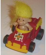 "TROLL doll Fireman in fire truck diecast car 2"" - $24.98"