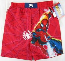 NWT Marvel Spider-Man Spiderman Boy's Red Swim Trunks Shorts, Size 6 - $12.99