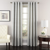 "Ridgewood Jacquard Curtain with Grommets, Silver Blue, 63"", by Lorraine ... - $27.49"