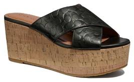Coach Cross Band Wedge Slide Sandals Size 9.5 - $128.69
